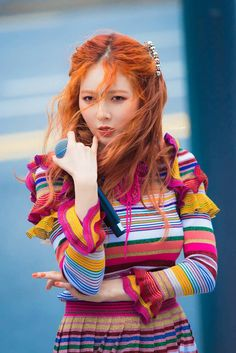 My love for her is infinite Hyuna And Hyunseung, Hyuna Kim, Red Orange Hair, Fandom Kpop, Kpop Hair, Rapper, Park Min Young, Successful Women, Perfect Woman