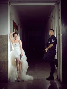 SWAT Officer's Police-Themed Wedding Album Goes Viral