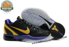 a0076054f21 Nike Zoom Kobe 6(VI) Black Gold Purple Jordan Shoes For Sale