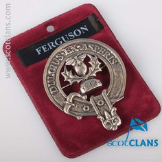 Ferguson Clan Crest Cap Badge. Free worldwide shipping available
