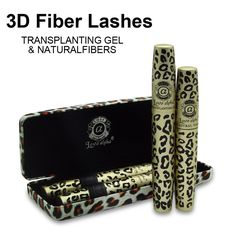 Hot Love Alpha 3d FIBER LASHES Mascara rimel makeup set 1set =2pcs maquiagem Wild Leopard waterproof double mascara