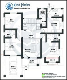 We provide free home designs with elevation and floor plans. All the house plans. 2bhk House Plan, House Plans Mansion, Free House Plans, Three Bedroom House Plan, Simple House Plans, Beautiful House Plans, Model House Plan, Duplex House Plans, House Layout Plans