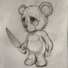 sketch teddy bear- sketch teddy bear sketch teddy bear - – Graffiti World Easy Drawings Sketches, Creepy Drawings, Dark Art Drawings, Halloween Drawings, Pencil Art Drawings, Cartoon Drawings, Animal Drawings, Cartoon Art, Creepy Sketches