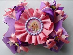 Rapunzel Hair Bow by SweetandCuteBows on Etsy, $12.00