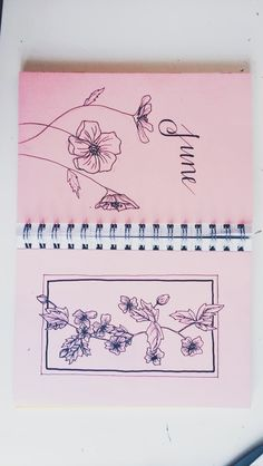 Flowery title page for June