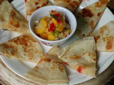 These are the best cheese quesadillas! They make a terrific meatless entree paired with beans and rice or an excellent appetizer cut into thinner wedges.