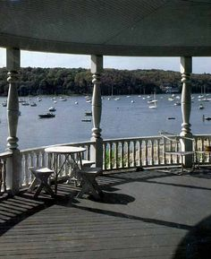 Northport Harbor, Long Island from inside the gazebo where every local has taken a prom pic.  #Travel #NewYork #LongIsland