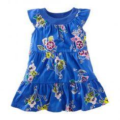 Little Girls Blue Dress | Tea Collection