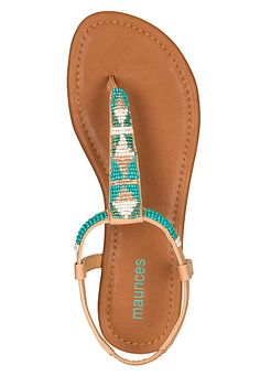 Antonia Bead Embellished Sandal (original price, $24) available at #Maurices