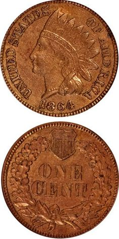 1864 Indian Head Cent - Copper Nickel Cent.  Federal coinage, at first only gold and silver but soon after also copper coins, had completely been withdrawn from circulation and was hoarded in large numbers. To encourage the circulation of cents, which had been replaced by private tokens and fractional currency, the metal would be altered. However, the first five months of the year saw regular production of the copper-nickel cents.  A total of 13,740,000 pieces were minted for circulation.