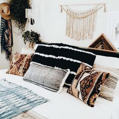 I really like this even though there are a lot of pillows on the bed I think they all go really nicely together.