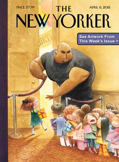 The New Yorker Cover - April 2015 Poster Print by Carter Goodrich at the Condé Nast Collection The New Yorker, New Yorker Covers, New Yorker Cartoons, Old Magazines, Vintage Magazines, Capas New Yorker, Cover Pages, Cover Art, Hotel Transylvania