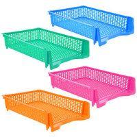 Essentials Rectangular Stackable Plastic Paper Trays