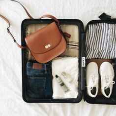 Away carry-on mandi nelson's weekend packing list to do list Air Travel, Travel Packing, Travel Bag, Travel Tips, Suitcase Packing, Weekend Packing List, Packing Lists, Packing Ideas, Away Carry On