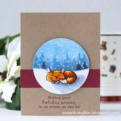 I found my way to stretch non-Christmas supplies into the Holiday Season. Winter Holidays, Card Ideas, Christmas Cards, Stamps, Seasons, Craft, Sweet, Creative, Handmade