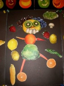 """Arcimboldo collages -- to go with the """"Aiken Drum"""" song."""