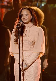 Demi Lovato performing 'One Voice Somos Live! A Concert For Disaster Relief' in LA