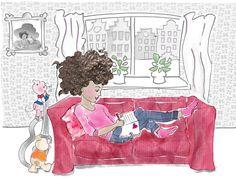 Illustratie Meisje door Debbi Verbakel