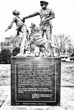 sculpture on dangers for protestors in the Civil Rights era