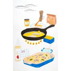 Pickles Fryed Herning  #smørrebrød #encyklopedia #illustration #art #contemporaryart #watercolor #pickledherring #herning…