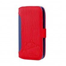 Capa Moto G Cruzerlite - Bugdroid Circuit Intelligent Wallet Red Blue  19,99 €