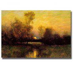 Aivazovsky Winter Landscape 1876 Wood Framed Canvas Print Repro 19x26