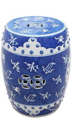 InStyle-Decor.com Beverly Hills Beautiful Chinese Blue & White Free Hand Painted Living Room Stools / Side Tables $395 From The Porcelain Capitol of the World Jingdezhen China. Enjoy Over 3,500 Modern, Contemporary Designer Inspirations, Now On Line, To Enjoy, Pin & Share. Luxury Furniture, Lighting, Mirrors, Home Decor. Unique Decorating Ideas for Interior Architects, Designers, Decorators & Fans