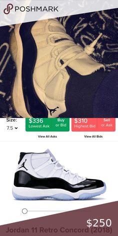 Mode Lifestyle homme NIKE Basket Air Jordan Xi Retro Concord Blanc 378037 100