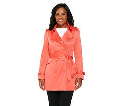 Add a classic to your closet with this tailored trench coat from the Joan Rivers Classics Collection(R). Page 1 QVC.com