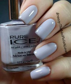 Pure Ice Laven-Dare beautiful pastel lavender; opaque in 1-2 coats; wearing this today 2/27/14; great polish for darker skin tones  #fav #stash #SPRING