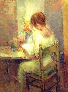 ✉ Biblio Beauties ✉ paintings of women reading letters & books - Ricardo Cejudo Nogales