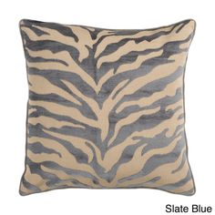 Opal Zebra Patterned Decorative Down or Poly Fill Pillow - Overstock™ Shopping - Great Deals on Throw Pillows