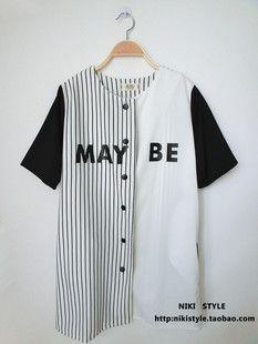 Taobao Japanese baseball jersey hip hop HIPHOP JAZZ BF style baseball jacket baseball sleeved cardigan hip-hop harajuku styleuvxsnoskmih from English Agent:BuyChina.com ($18.00) - Svpply