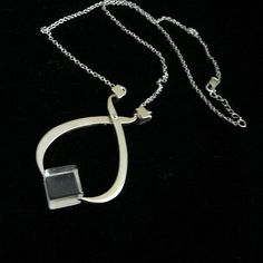 Melted Ice Tong Necklace