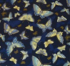 Cotton Fabric,Quilt,Home Decor, Butterflies, - 1/2 Yard Piece - Imperial Collection 10 by Kaufman,Fast Shipping