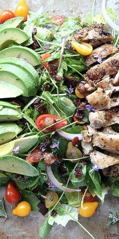 Rosemary Chicken, Avocado, and Bacon Salad