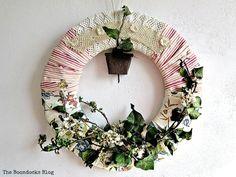 The Lopsided Summer Wreath - The Boondocks Blog