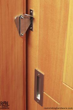 Real Sliding Hardware - Teardrop Privacy Lock for Sliding Doors, $48.00 (http://www.realslidinghardware.com/teardrop-privacy-lock-for-sliding-doors/)