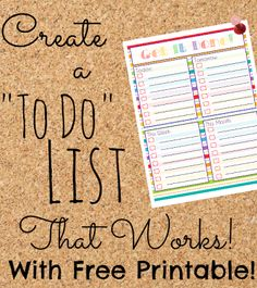 How to Create a To Do List That Works -- lots of food for thought and practical time-management tips in this post!