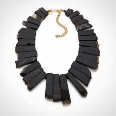Agate Graduated Stone Necklace via Brit + Co.
