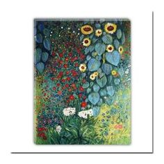 Farm Garden With Flowers Oil Painting by Gustav Klimt