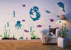 Sea World-Wall Decals-Animals Decals-wall decals, wall murals, wall stickers, wall stencils