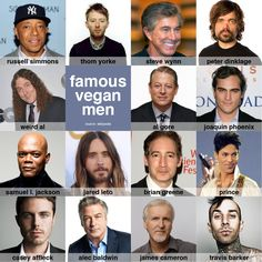 Famous Vegan Men #vegan #celebrities