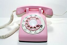 Pink rotary dial phone!