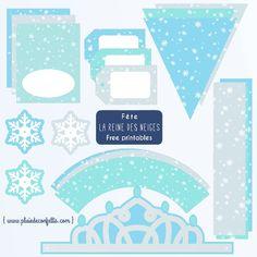 fête la Reine des neiges decoration imprimable gratuite