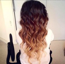 long brown hair with pink ombre