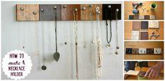 Muestras de madera. | 25 Maneras inteligentes de organizar tus joyas haciéndolo tu misma