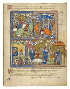 Israel Triumphant; The Chariot of Abinadab   Fol. 39r   The Morgan Library & Museum