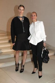 Vanessa Traina and Danielle Steel at the Christian Dior couture Fall 2012.