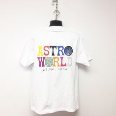 Travis Scott Astroworld Printed Short Sleeves Unisex White Shirt – SGoodGoods Travis Scott Merch, Travis Scott Astroworld, Festival T Shirts, Printed Shorts, Trendy Outfits, Short Sleeves, Unisex, Tees, Mens Tops